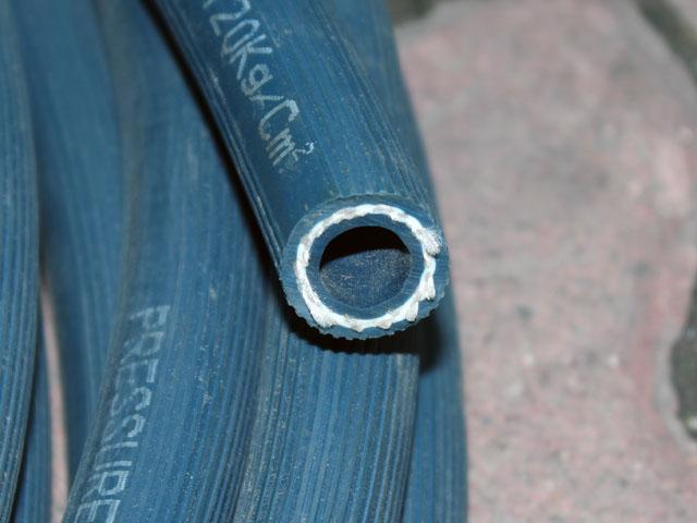 ống cao su bố vải vỏ xanh